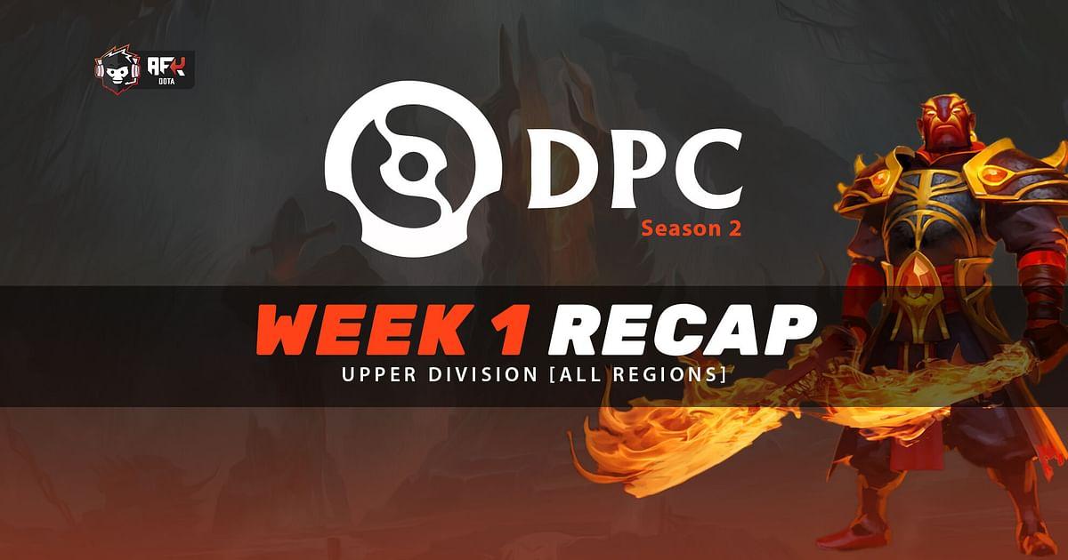 Week 1 Recap of the 2021 DPC Season 2: Upper Division [All Regions]