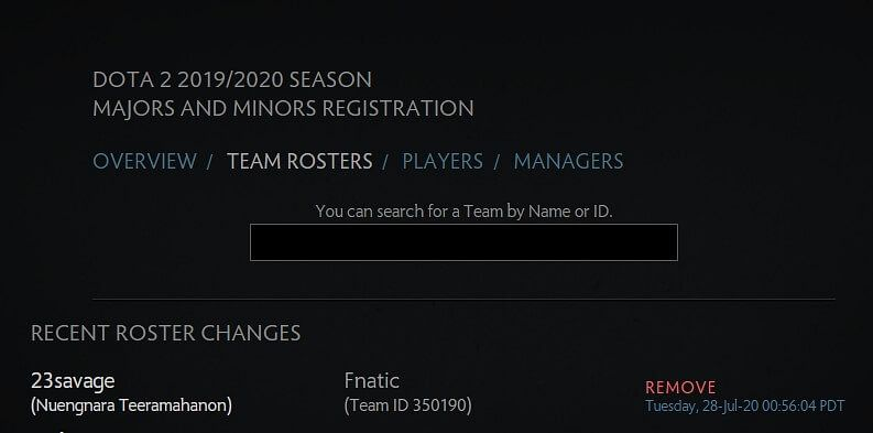 23Savage Has Been Removed From Fnatic's Roster
