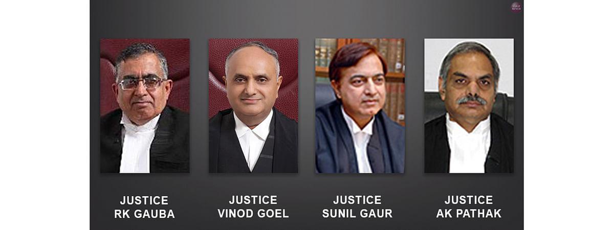 AK Pathak, Vinod Goel, Sunil Gaur and RK Gauba