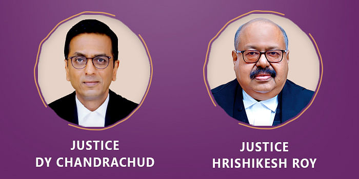 Justices DY chandrachud and Hrishikesh Roy