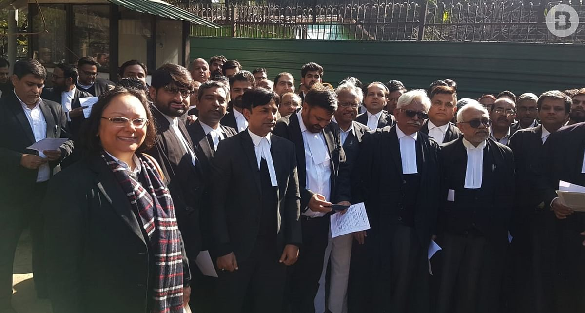 CAA Protest: Lawyers read the Preamble to the Constitution outside Delhi HC