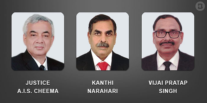 Justice AIS Cheema, Kanthi Narahari and VP Singh (left to right)