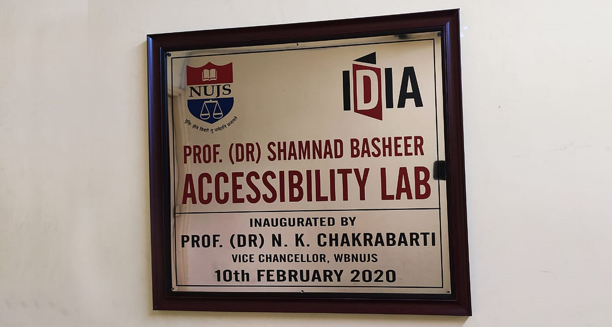 IDIA Accessibility Lab launched at NUJS in honour of Prof Shamnad Basheer