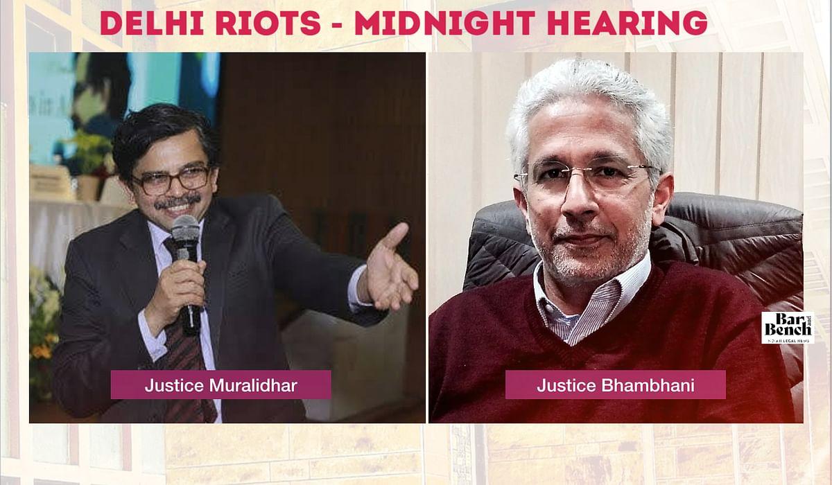 Justice Muralidhar and Justice Anup Bhambhani