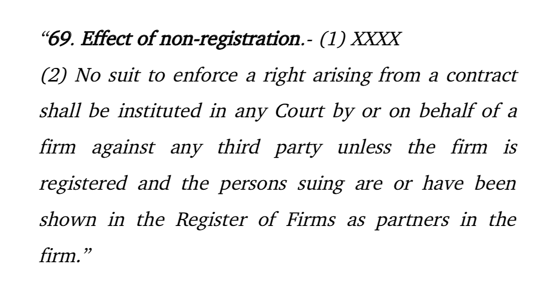 Section 69(2) of the Indian Partnership Act
