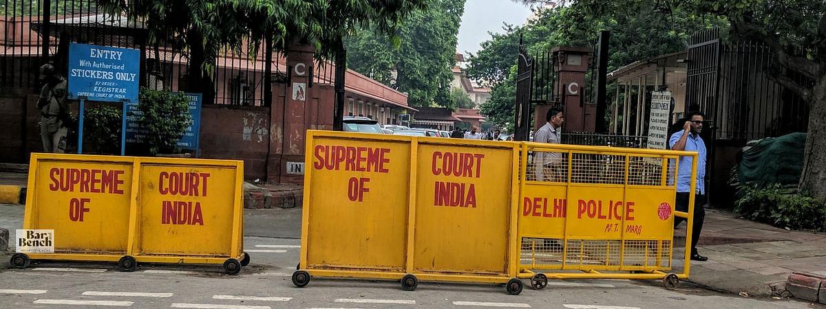 Supreme Court barricades