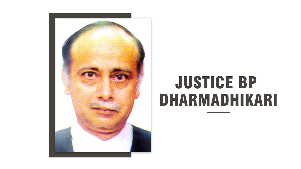 Justice BP Dharmadhikari appointed acting Chief Justice of Bombay High Court [Read Notification]