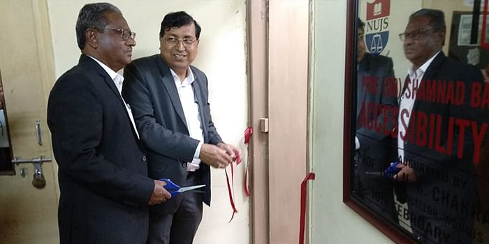 Mr. MM Basheer, father of late Shamnad Basheer, was present at the launch