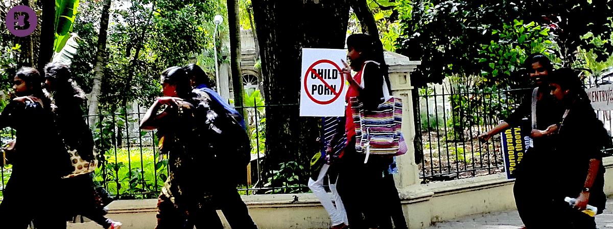 Protest against Child Porn in Bangalore