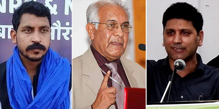 (L-R) Chandra Shekhar Aazad, Wajahat Habibullah and Bahadul Abbas Naqvi