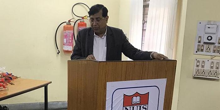 WBNUJS Vice-Chancellor Prof NK Chakrabarti