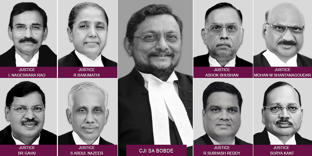 The nine-Judge Bench constituted to hear the reference made during Sabarimala review