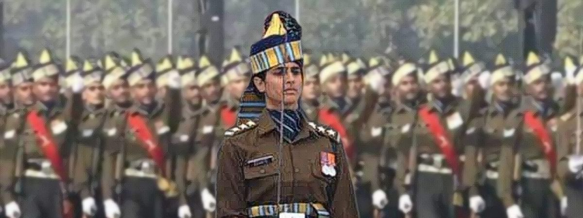 In picture: Tanya Shergill leading all-man contingent on Army Day, 2020