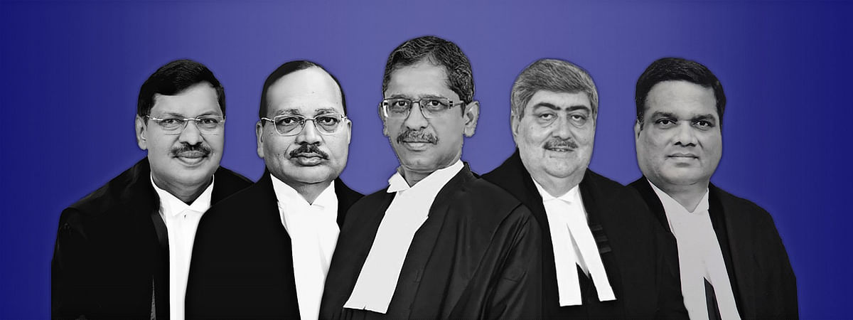 NV Ramana, Sanjay Kishan Kaul, R Subash Reddy, BR Gavai, and Surya Kant