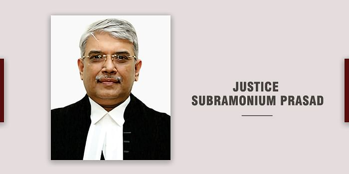 Centre notifies transfer of Justice Subramonium Prasad to Delhi High Court