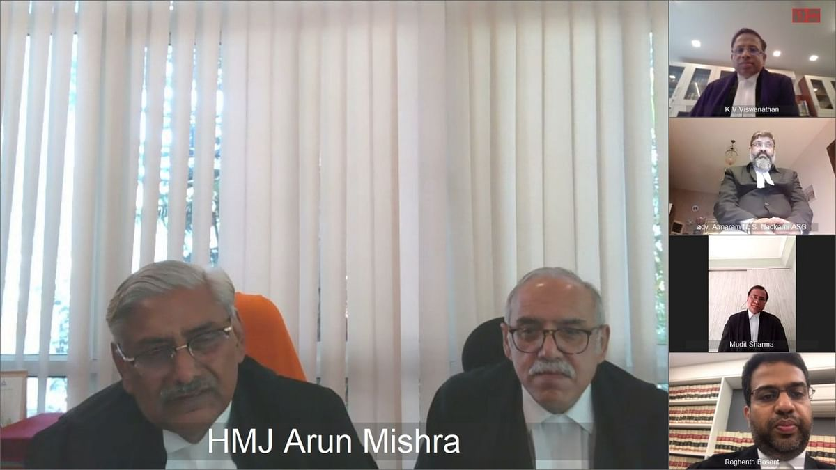 Another Bench comprising Justices Arun Mishra and Deepak Gupta also took up urgent matters for hearing via video conferencing