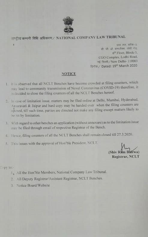 NCLT notice