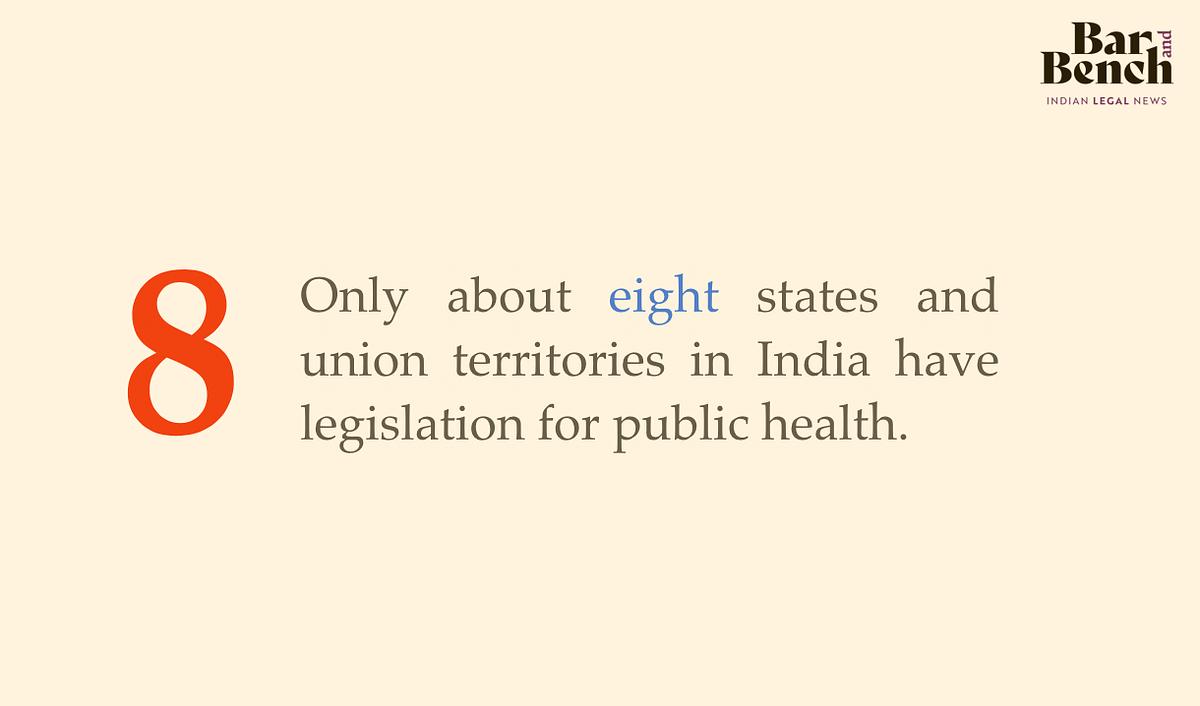 8 States & UTs have legislation for public health