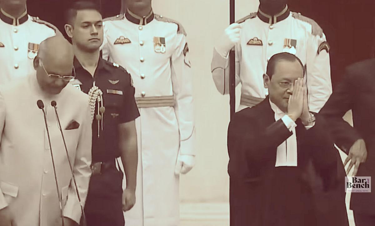 Former CJI Ranjan Gogoi takes Oath
