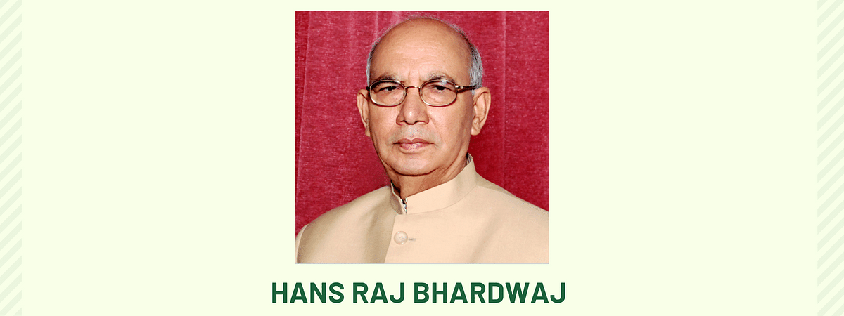 Former Law Minister and Senior Advocate, Hans Raj Bhardwaj passes away