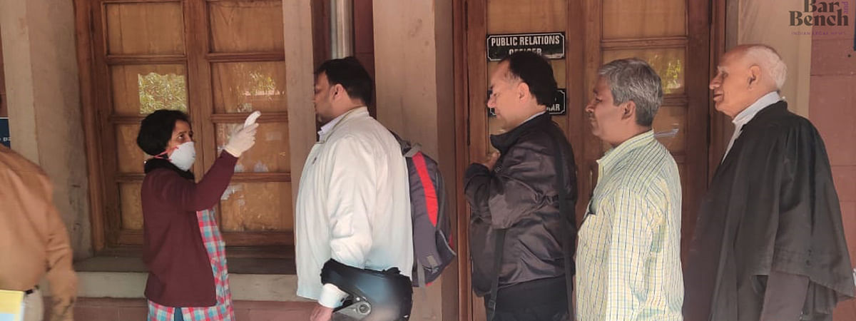 Thermal screening conducted at Supreme Court
