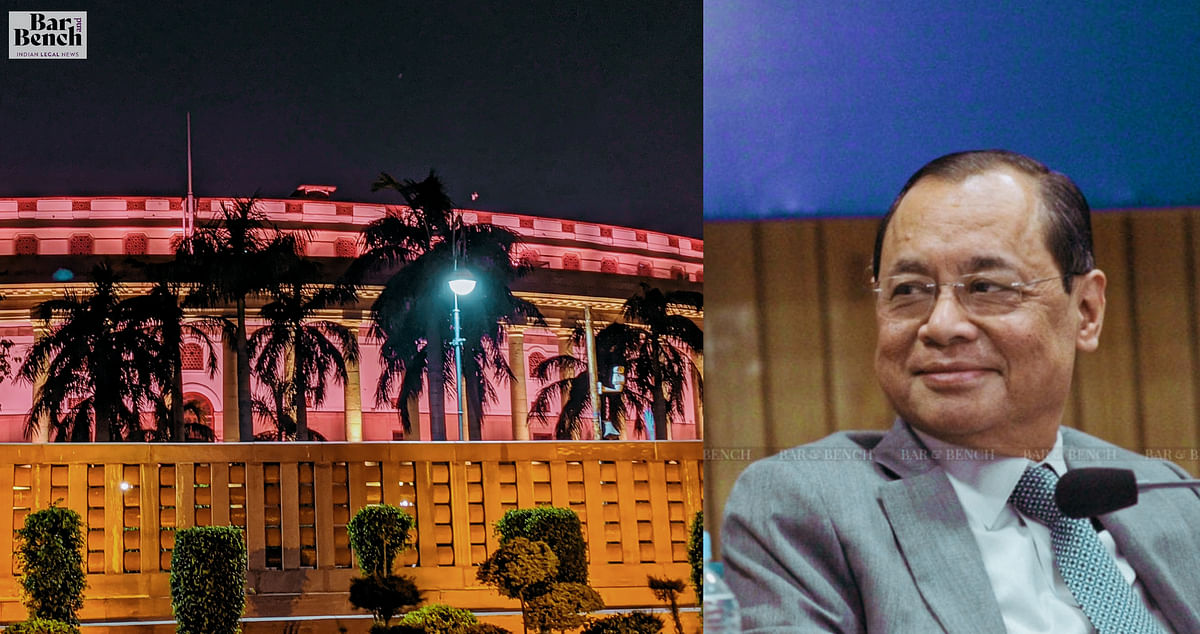 Justice Ranjan Gogoi swearing in as the Chief Justice of India