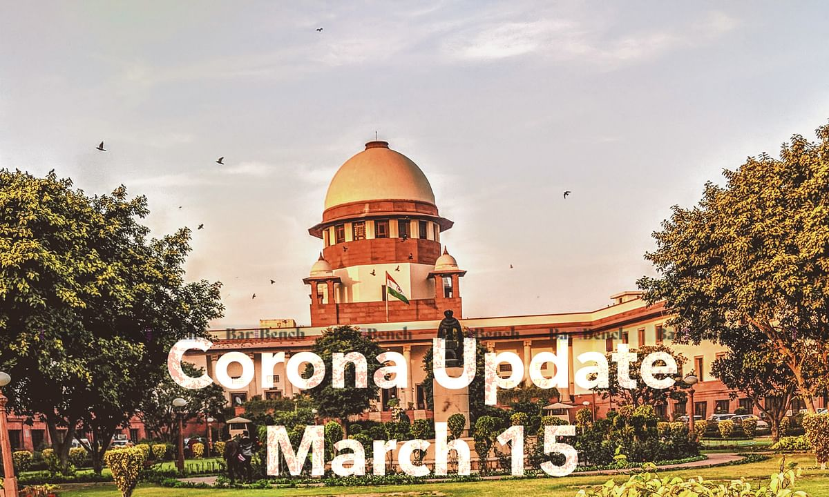 Supreme Court response to Coronavirus (March 15): Virtual Court, E Filings, Paperless Courts to be a reality