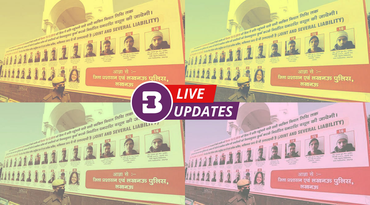 [Breaking] Banners of Anti-CAA protestors in Lucknow: Supreme Court refers matter to larger Bench, no stay on HC order