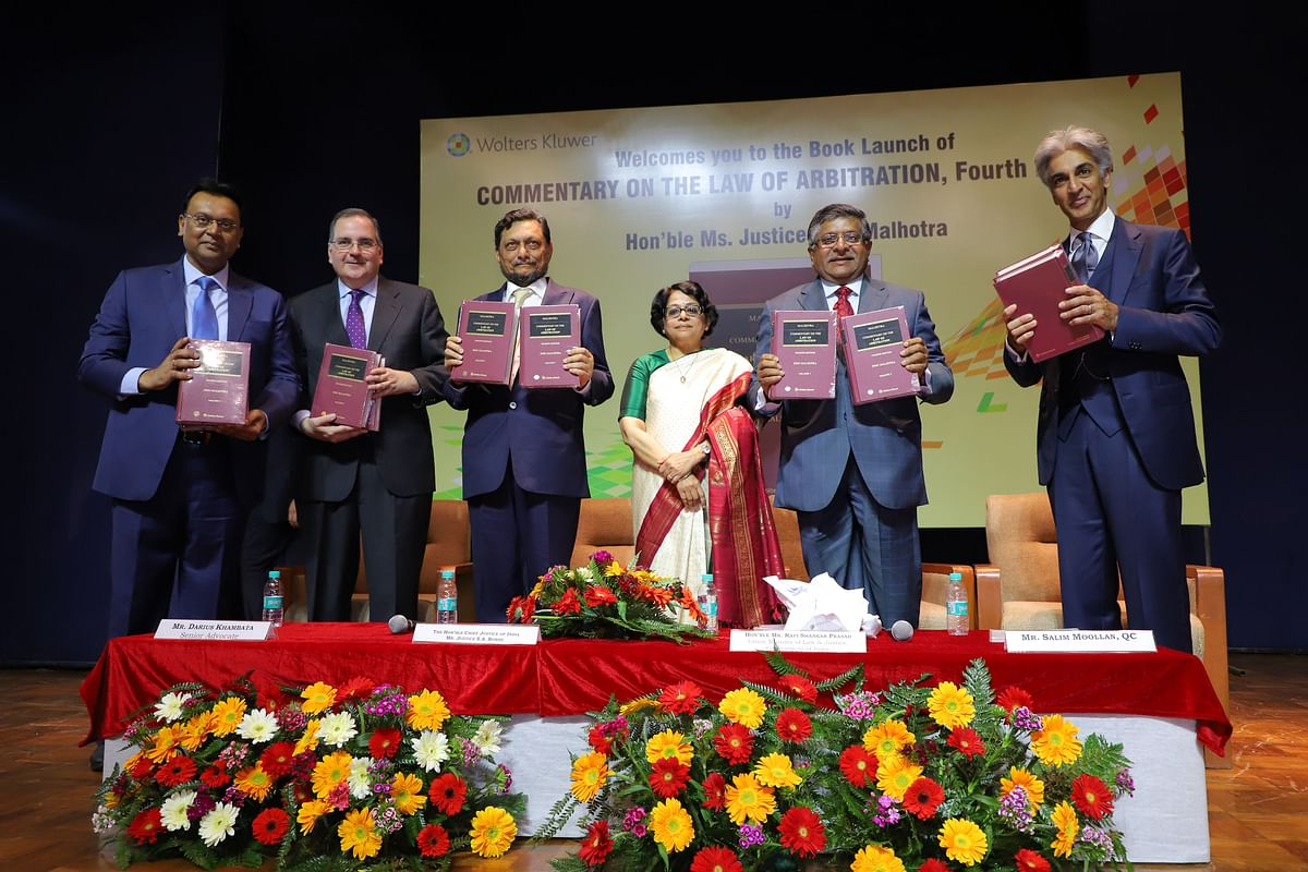New Delhi International Arbitration Centre would be an autonomous body: Law Minister clarifies at Justice Indu Malhotra book launch