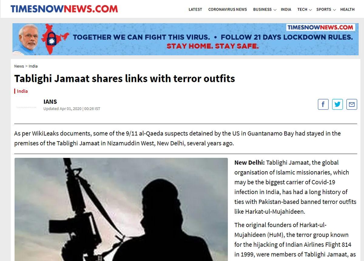 Tablighi Jamaat member sends legal notice to Bennett Coleman MD Vineet Kumar Jain for article alleging links with terror outfits