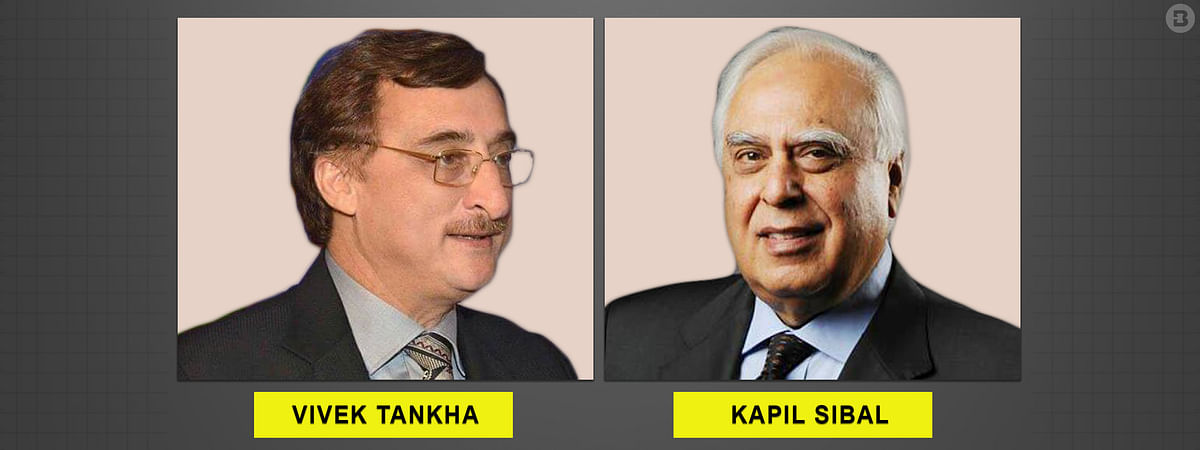 Senior Advocates Vivek Tankha (L) and Kapil Sibal (R)