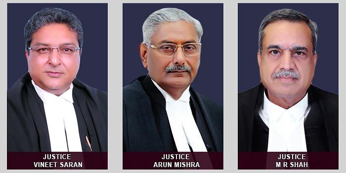 Vineet Saran, Arun Mishra and MR Shah