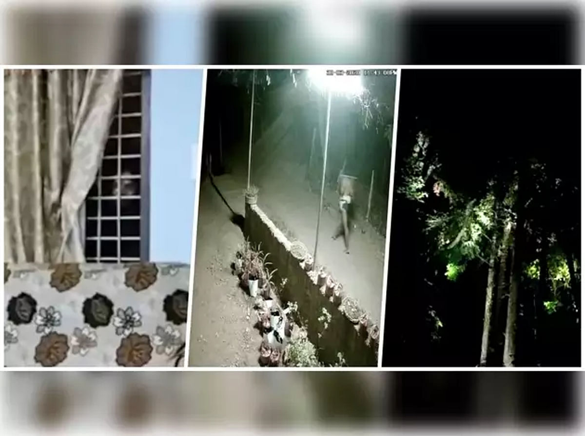Visuals of CCTV footage rumoured to be those of the mysterious apparition in Thrissur