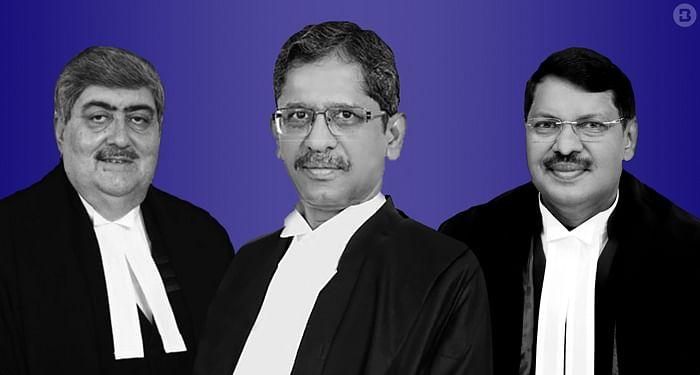 Justices Sanjay Kishan Kaul, NV Ramana, and BR Gavai
