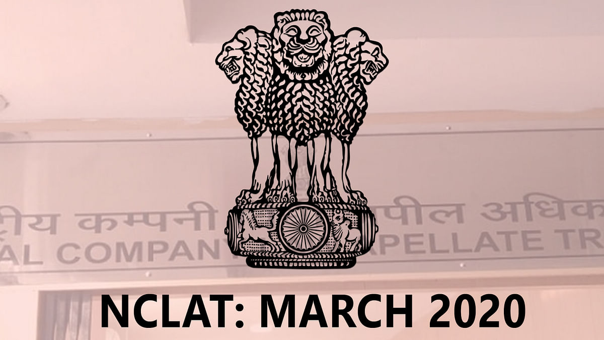 NCLAT at a Glance: March 2020