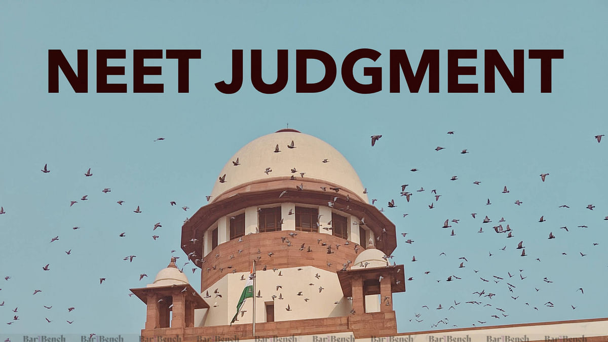 [Breaking] No fundamental right violation in making NEET applicable to private minority institutes: Supreme Court