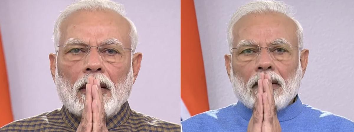 PM Narendra Modi during his TV announcement