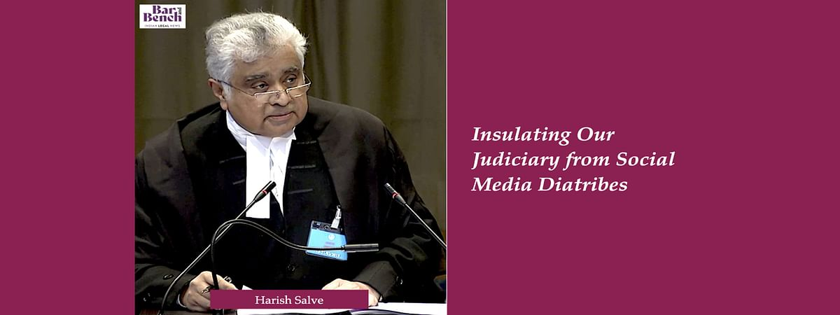 "Treatment of Supreme Court as ""national dartboard"" must stop: Sr Adv Harish Salve on the permissible bounds of criticising the Judiciary"