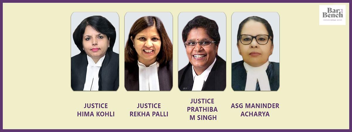 Hima Kohli, Rekha Palli, Prathiba M Singh, ASG Maninder Acharya