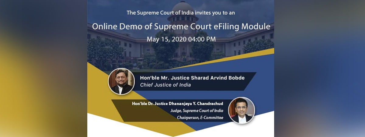 Online demo of Supreme Court e-filing module to be held on Friday, May 15