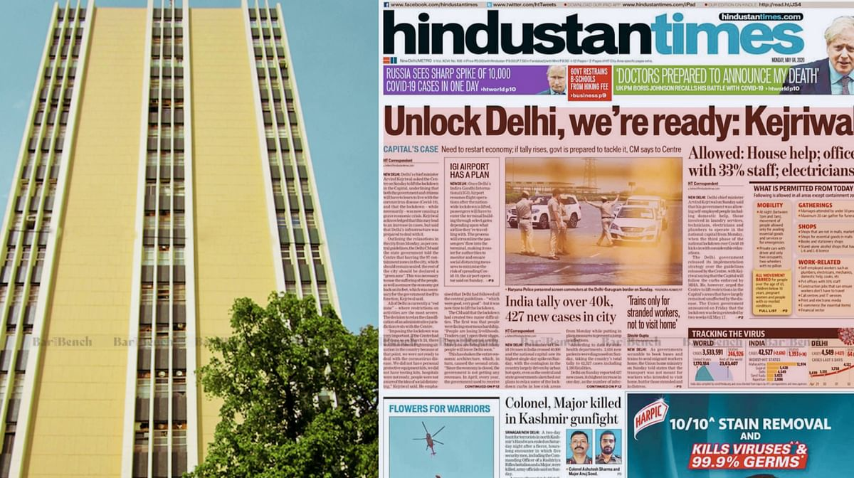 Delhi High Court stays Press Council of India direction effectively stopping govt advertisements in Hindustan newspaper