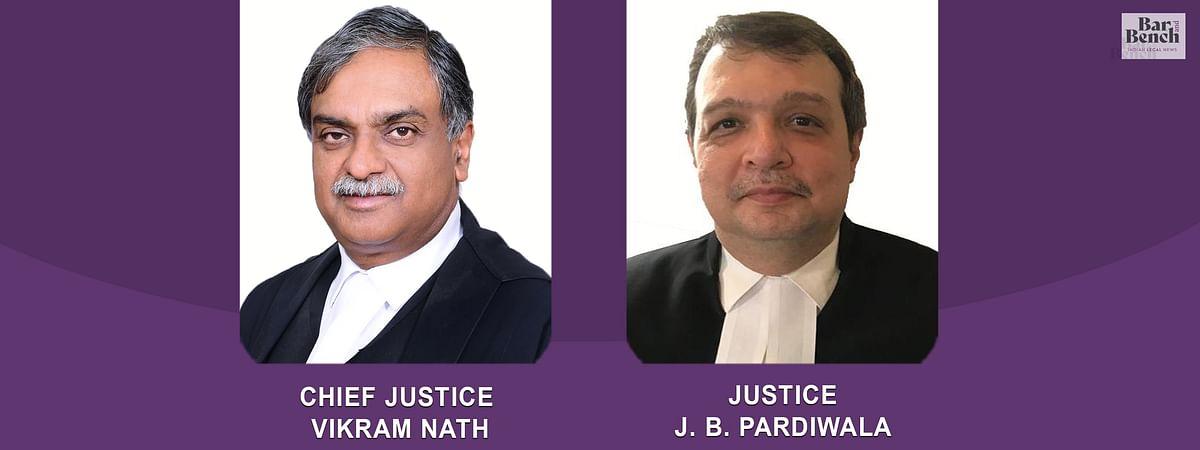 CJ Vikram nath and Justice JB Pardiwala