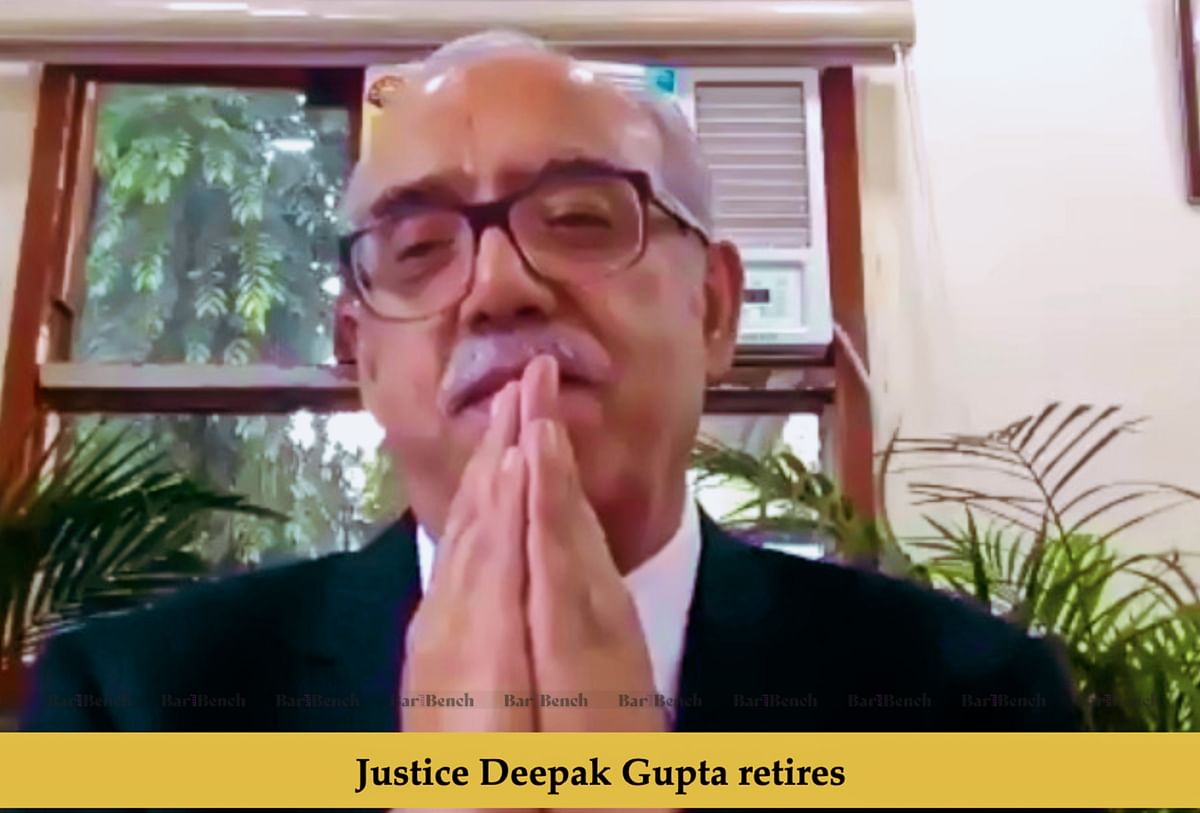 [Video] Supreme Court Judges bid virtual farewell to Justice Deepak Gupta as he retires amid COVID-19 Lockdown
