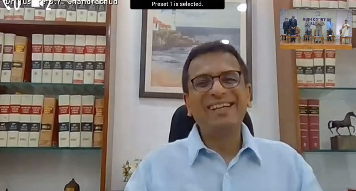 Justice DY Chandrachud attended the event through video conferencing