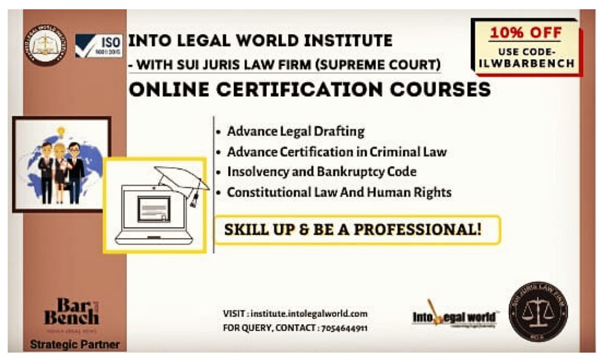 #Sponsored: Online Certification Courses by Into Legal World Institute - Register Today!