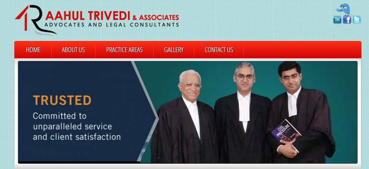 Screen grab from a web page for Raahul Trivedi and Associates