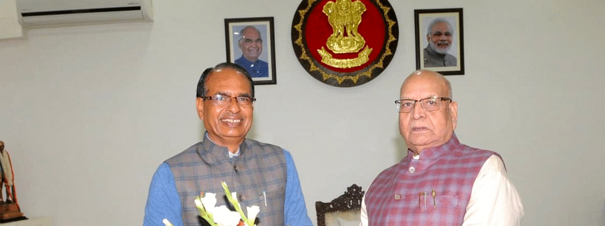 Governor Lalji Tandon with Chief Minister SS Chouhan