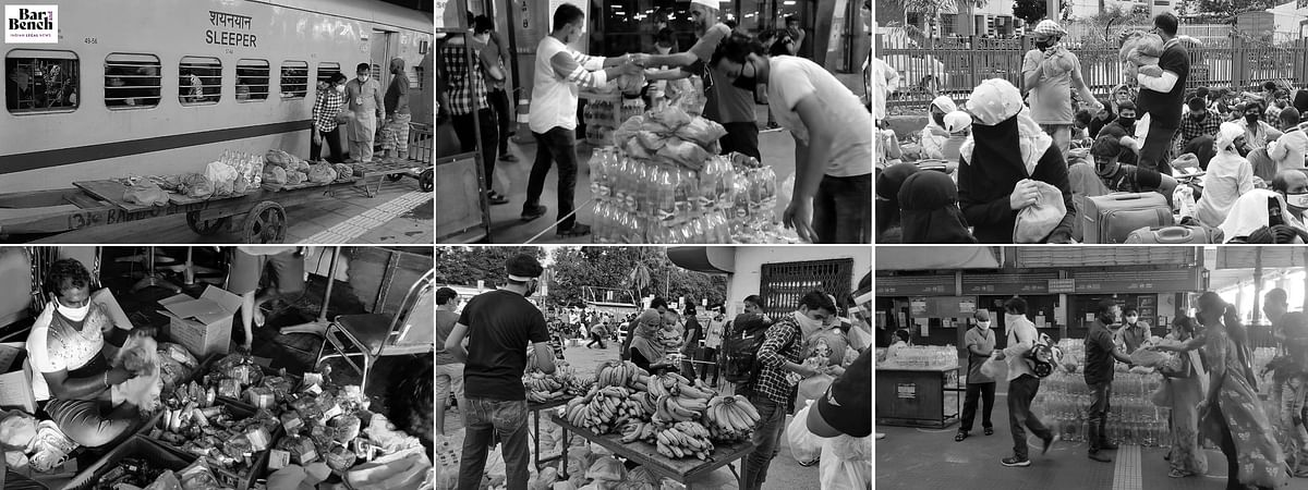 "See how NLSIU Alumni's ""Serving the Shramiks"" provides on-the-ground support to Migrants [Images]"