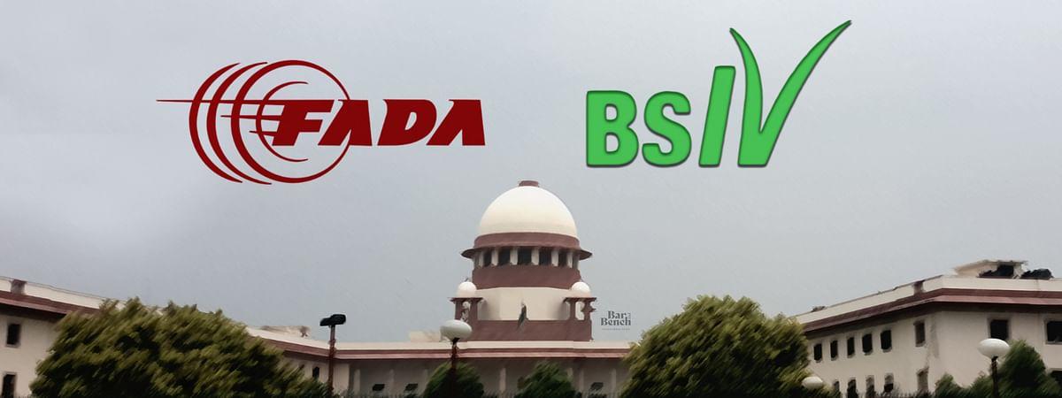 FADA and BS IV logos, Supreme Court