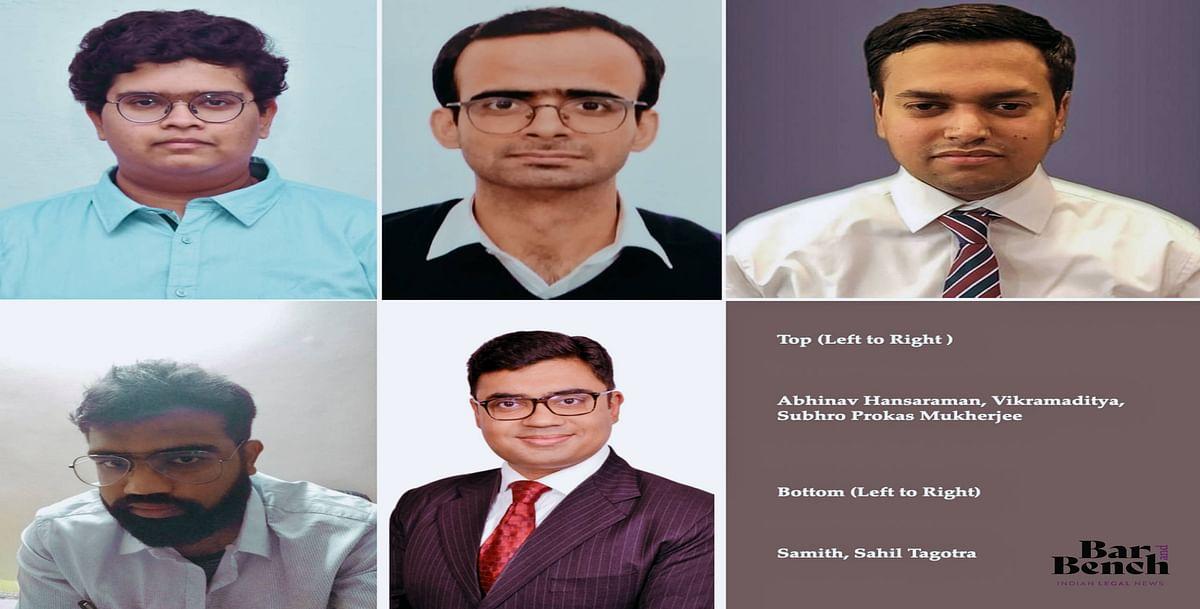 Abhinav Hansaraman, Vikramaditya, Subhro Prokas Mukherjee, Samith, Sahil Tagotra